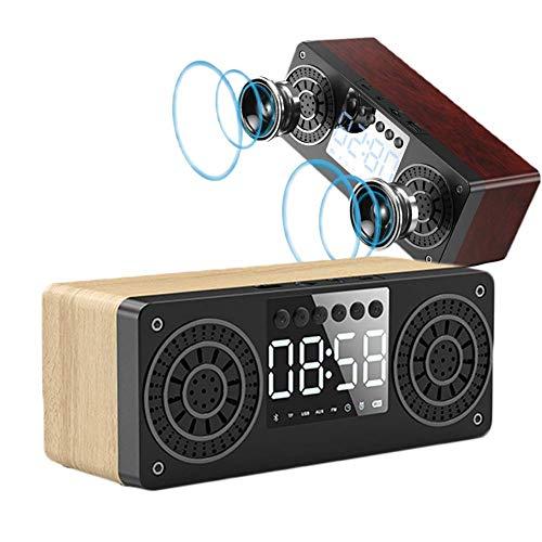 DGHJK Presidente inalámbrico portátil de Bluetooth, Reloj de Digitaces de la Radio de FM para los dormitorios, Viaje