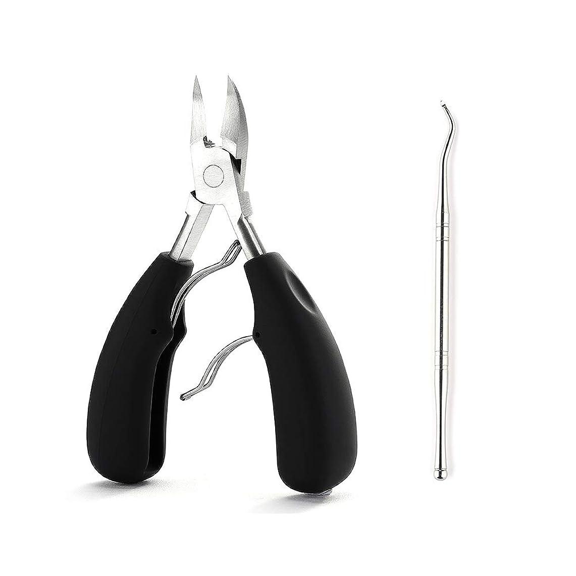 エネルギー哲学ヶ月目SurgeHai 爪切りキューティクルニッパーとキューティクルプッシャー - 理想的な指の爪と足の爪のためのプロフェッショナルなステンレス鋼のマニキュアとペディキュアツール、2キューティクルトリマーのセット