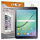 REY 2X Protector de Pantalla para Samsung Galaxy Tab S2 8' t720, Cristal Vidrio Templado Premium, Táblet