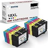 SMARTOMI 18XL Cartucho de Tinta Compatible con Epson 10 Multipack 18XL para Epson Expression Home XP-322 XP-215 XP-205 XP-225 XP-305 XP-325 XP-422 XP-405 XP-415 XP-425 XP-315 XP-312 XP-425 Series
