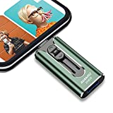 USB3.0 Flash Drives 256GB, AUAMOZ Memory Drive 256GB Photo Stick Compatible with Mobile Phone & Computers, Mobile Phone External Expandable Memory Storage Drive, Take More Photos & Videos (Dark Green)