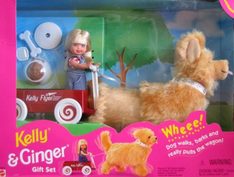 Barbie KELLY & GINGER Gift Set w Wagon (1997) by Mattel
