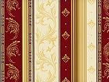 Classic Möbelstoff Versailles mit Fleckschutz Farbe Rouge