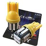 LIMEY T10 LED ポジションランプ アンバー オレンジ 爆光 120lm 5W ポジション灯 ナンバー灯 ルームランプ ウエッジ球 車 バイク 2個入