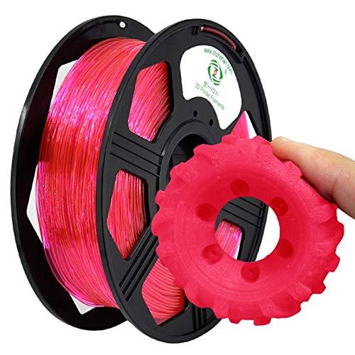 YOYI 3D Printer Filament,TPU Flexible Filament 1.75mm 0.8kg Spool Dimensional Accuracy +/- 0.03 mm,100% Europe Raw Material(pink)