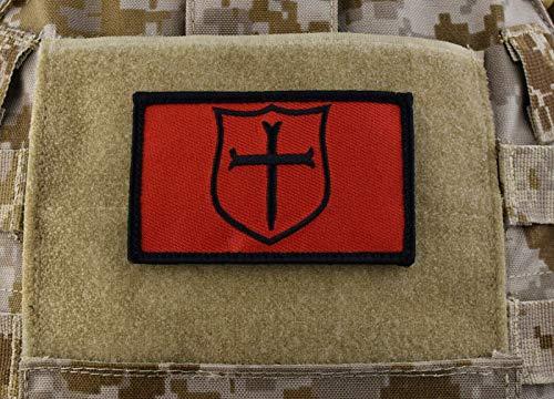 NSWDG Gold Squadron Crusader Shield Patch Black & Red DEVGRU Seal Team 6