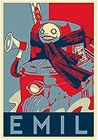ポスター ニーアオートマタプロパガンダエミル アートポスター A4サイズ [インテリア 壁紙用] 絵画 アート 壁紙ポスター