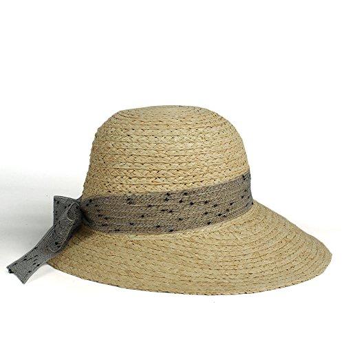 HUILIAN HATS Cappello alla Moda, Cappello da Sole per Donna con Cappellino in Paglia e Visiera dai Stile alla Tua Vita