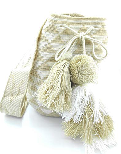 COLOMBIAN STYLE Kolumbianische Taschen mit Glocke, Wayuu Rucksack für Frauen und Männer.