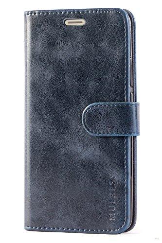 Mulbess Handyhülle für Huawei Mate 10 Hülle, Leder Flip Case Schutzhülle für Huawei Mate 10 Tasche, Dunkel Blau - 4