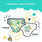 Seventh Generation Baby Diapers for Sensitive Skin, Animal Prints, Size 0 Newborn, 144 count (Packaging May Vary)