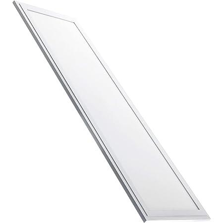 Panneau LED Slim 120 x 30 cm, 48 W, Blanc Froid (6500k). 4000 Vrais Lumens. Driver inclus.