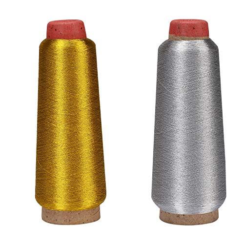 Nuevo Calidad 1 X 100m cada Oro Y Plata Metálico Hilo de Coser Mano//máquina.