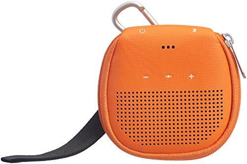 AmazonBasics - Custodia per altoparlante Bluetooth Bose SoundLink Micro, con supporto, colore: arancione