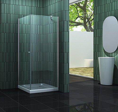 Duschkabine CASA-ONE 90 x 90 x 190 cm ohne Duschtasse