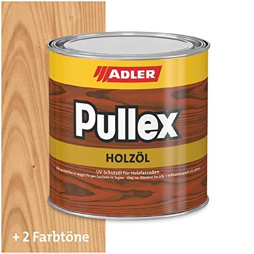ADLER Pullex Holzöl Außen - Universell einsetzbar für senkrechte Holzflächen im Außenbereich - Holzpflege & Holzschutz auf Basis natürlicher, veredelter Öle - Farbe Farblos/Transparent 2.5l