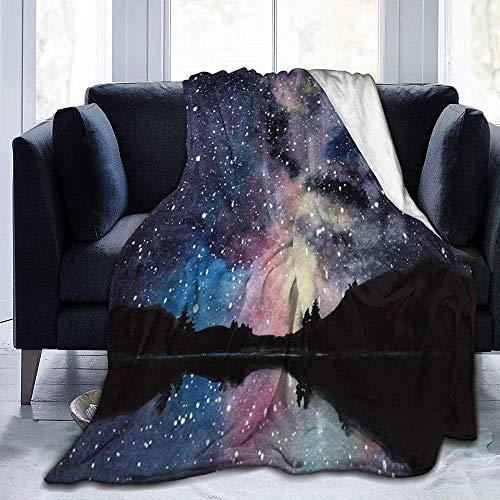 HUA JIE Aire Acondicionado Estrellas de Galaxia de Acuarela Dibujadas a Mano en el Espacio Nocturno Hermosa Vía Láctea, para sillones/sofá/sillas/sofá Ligero, cálido y Acogedor