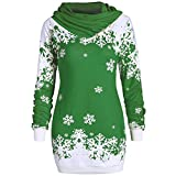 YWLINK Mode Damen Pulli Pullover Rollkragen Frauen Weihnachten Schneeflocke Gedruckte Tops Lang...