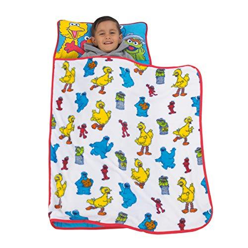 Sesame Street - Yellow, Blue, Red Toddler Nap Mat, Yellow, Blue, Red, Green
