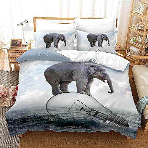 Bedclothes-Blanket Juego de sabanas Infantiles Cama 90,Ropa de Cama de Tres Piezas de Pulido Digital 3D-6_240 * 220