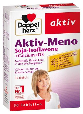Doppelherz Aktiv-Meno Soja-Isoflavone + Calcium + D3, 4er Pack, 4 x 30 Tabletten
