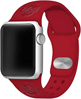 Affinity Bands Ohio State Buckeyes Debossed Silicone Band Compatible with The Apple Watch - 38mm/40mm