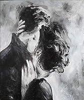 5D ダイアモンド絵画 アート キット 刺繍キット クロスステッチキット 黒と白の画像愛好家のキス DIY 芸術品 壁アート 手芸 製作キット 壁の装飾 ホーム装飾 誕生日プレゼント