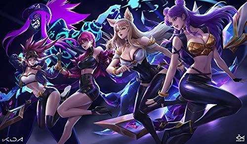 Citemer Liu Akali Akali League Of Legends Evelynn League Of Legends - Póster de anime (30,5 x 45,7 cm), multicolor