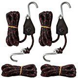 """FishYuan Sentry Ratchet Kayak and Canoe Bow and Stern Tie Downs 1/4"""" Grow"""