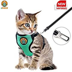 "★ ADJUSTABLE SIZE FOR CATS SMALL PETS: NOTE: Please adjust the strap and belt according to your pet size after you received this harness! AWOOF cat harness is adjustable free and we offer 2 size. The S neck size is 5.3~7.8inch, chest size is 6.8""-11""..."