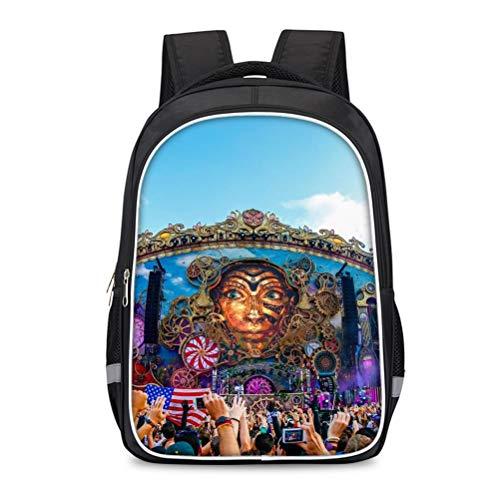 Fjhgqejfw Tomorrowland Equipaje Mochila impresa Adecuado para niños y niñas Bolsa de escuelas con elegancia de luz al aire libre. para Mujeres y Hombres (Color : A10, Size : 30 X 17 X 42cm)