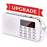 Renouvellement PRUNUS L-218AM Radio Portable Ultra-Fine AM FM MP3 Micro SD AUX USB,...