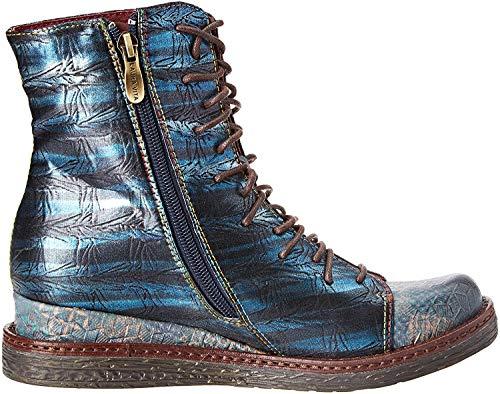 LAURA VITA Damen ERCNAULTO 02 Stiefeletten, Blau (Turquoise), 42 EU