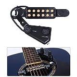 Silenceban Gitarren-Tonabnehmer mit 12 Schalllöchern für Akustikgitarre