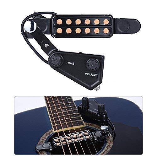 SILENCEBAN 12 SoundHole Guitar Pickup Acoustic Electric Transducer for Acoustic...
