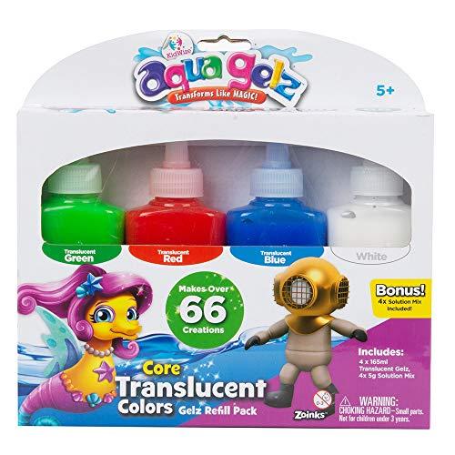 Aqua Gel ZOI-40206-02 AQ-206-1 SAMBRO Aqua Gelz skapa squishy djur idealisk gåva för barn | gör över 66 skapelser | se formerna omvandlas | påfyllningspaket | genomskinliga färger