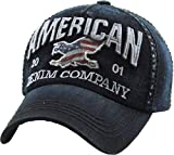 Mens Baseball Cap - American Denim Company - Black