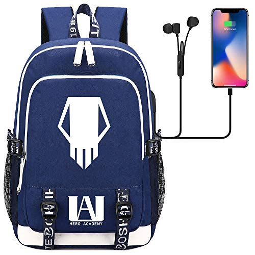 Youth Leisure Multi-Functional Backpack Vacation Outing Travel Backpack 45cm*30cm*15cm Blue