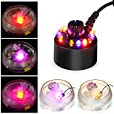FITNATE Ultrasonic Fog Maker Machine cambia colore, 12 LED, fontana per laghetto, nebbia, ...