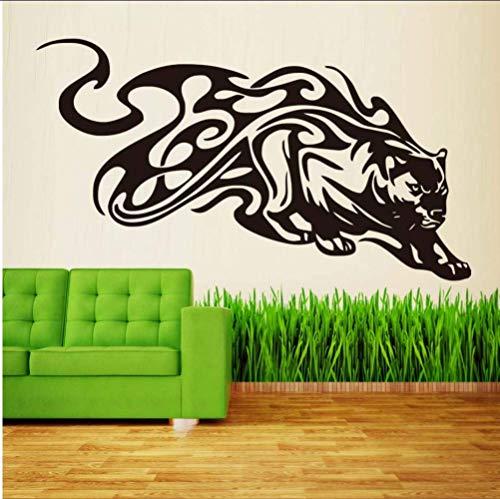 Abnehmbare Vinyl Wandtattoo Animal Tribal Panther Wandaufkleber Esszimmer Home Decoration 78 * 44 Cm