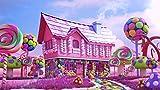 ATggqr Puzzle Adultos 1000 Piezas 50x75cm Casa Rosada del Caramelo Juegos Educativos Puzzles Juguete para aliviar estrés Juego Intelectual Cerebro Desafío