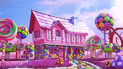 Puzzle Adultos 1000 Piezas 50x75cm Casa Rosada del Caramelo Juegos Educativos Puzzles Juguete para aliviar estrés Juego Intelectual Cerebro Desafío