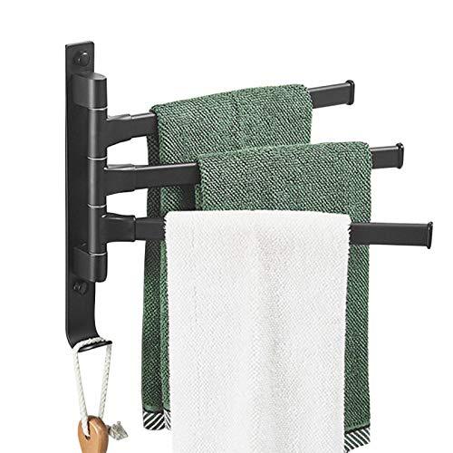 ALEOHALTER - Portasciugamani da bagno, montaggio a parete, senza foratura, rotazione, 180 gradi di rotazione (tipo B)