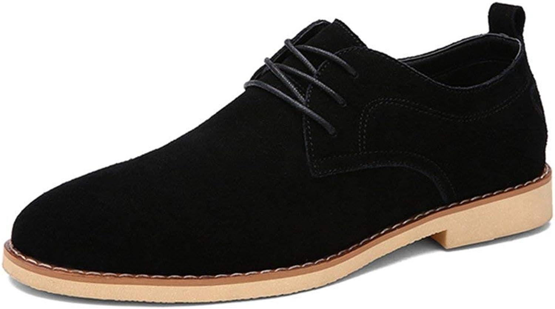 ZHRUI Men Genuine Leather shoes Business Flats Solid Fashion Black Popular Casual Dress Oxford shoes (color   Black, Size   6.5UK=40EU)