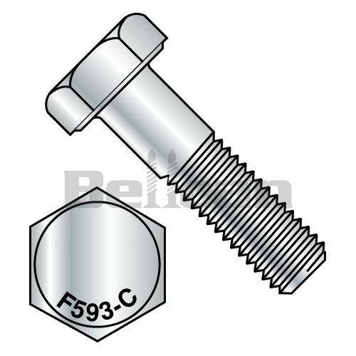 BC-1436CH188 - Tornillo de rosca hexagonal (acero inoxidable 18-8, 1/4-20 x 2-1/4, caja de 100)