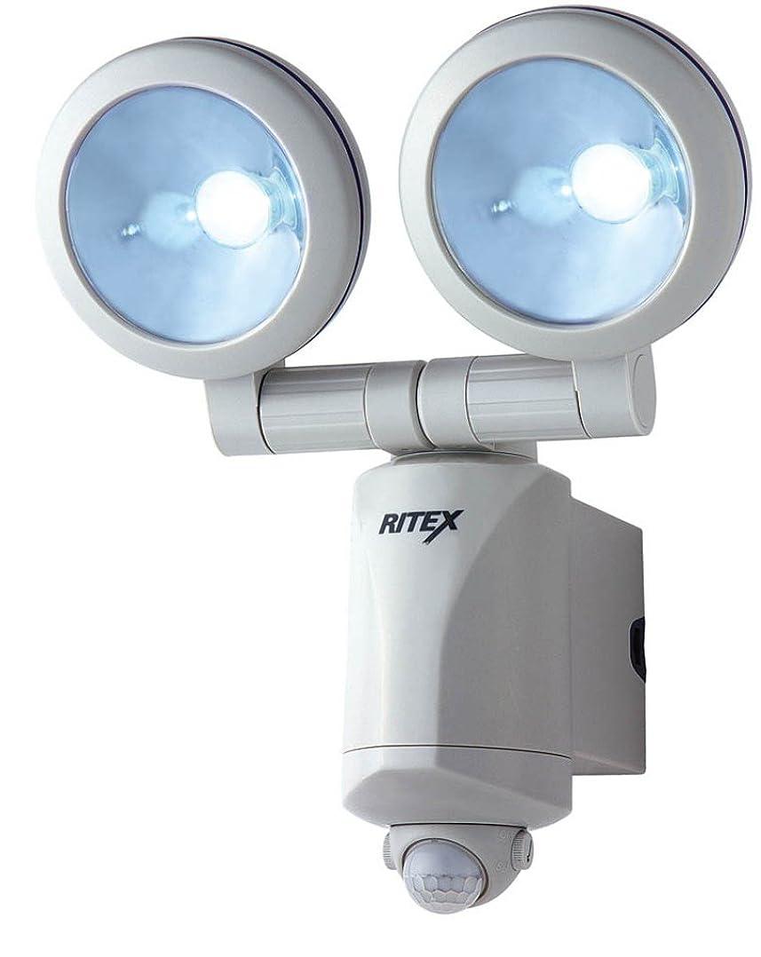 と闘う責最悪ムサシ RITEX 1.3W×2 LEDセンサーライト 「乾電池式」 LED-220