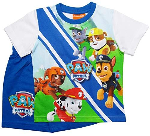 Paw Patrol Schlafanzug Kollektion 2018 Pyjama 92 98 104 110 116 122 Shortie Shorty Jungen Blau (Blau, 110-116)