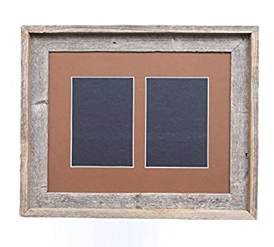 BarnwoodUSA Signature 11x14 Picture Frame With Mat For Two 5x7 Photos - Choose Your Own Mat Color!