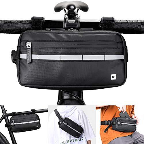 lepeiqi Bolsa para Manillar de Bicicleta con Tira Reflectant