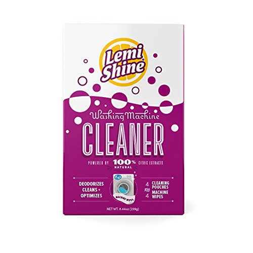 Lemi Shine Washing Machine Cleaner Plus Wipes, 8 Count